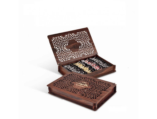 پشمک جعبه چوبی کادویی